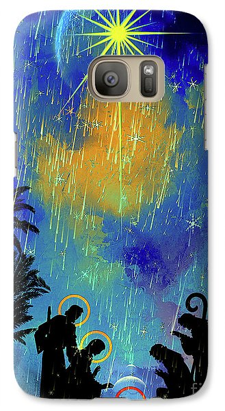 Galaxy Case featuring the painting  Merry Christmas To All. by Andrzej Szczerski