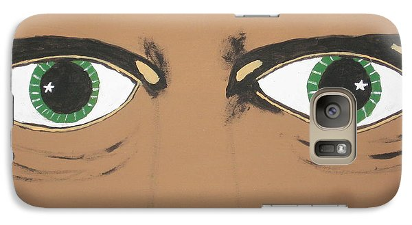 Galaxy Case featuring the painting Mesmerized Eyes by Jeffrey Koss
