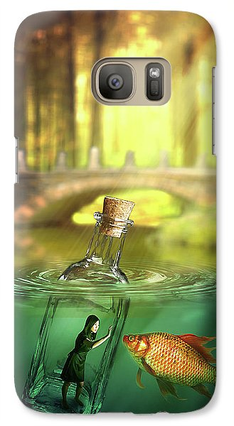 Galaxy Case featuring the digital art Message In A Bottle by Nathan Wright