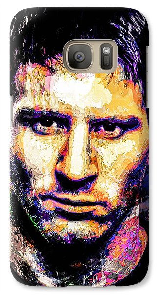 Galaxy Case featuring the mixed media Messi by Svelby Art