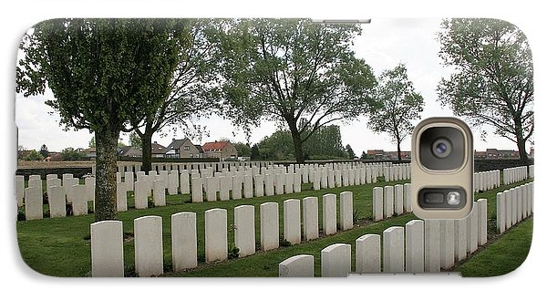 Galaxy Case featuring the photograph Messines Ridge British Cemetery by Travel Pics