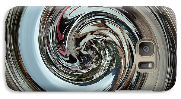 Galaxy Case featuring the digital art Metalic Swirl by Kathy Kelly