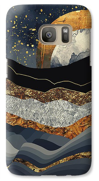Landscapes Galaxy S7 Case - Metallic Mountains by Katherine Smit