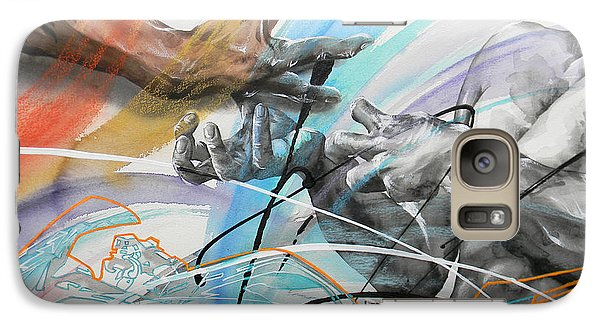 Galaxy Case featuring the painting Metamorphosis by J- J- Espinoza