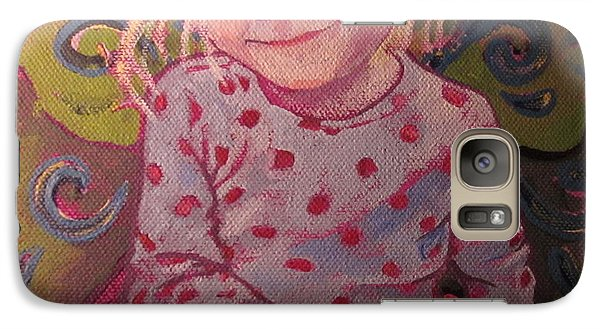 Galaxy Case featuring the painting Metamorphosis by Tilly Strauss