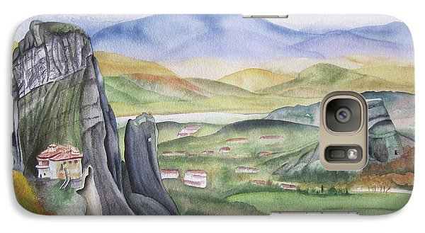 Galaxy Case featuring the painting Meteora by Teresa Beyer