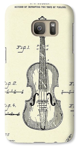 Violin Galaxy S7 Case - Method Of Improving The Tone Of Violins-1888 by Pablo Romero