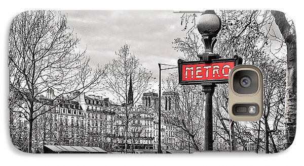 London Tube Galaxy S7 Case - Metro Pont Marie by Delphimages Photo Creations