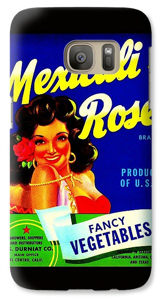 Galaxy Case featuring the photograph Mexicali Rose Vintage Vegetable Crate Label by Peter Gumaer Ogden