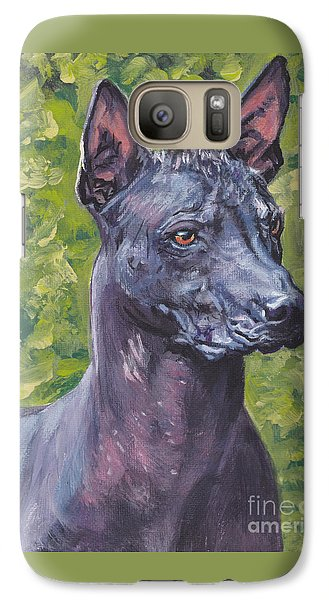 Galaxy Case featuring the painting Mexican Hairless Dog Standard Xolo by Lee Ann Shepard