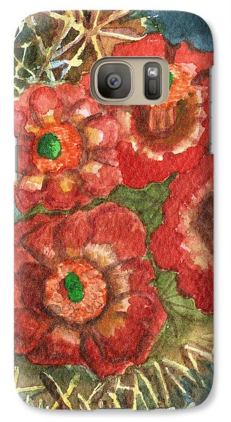 Galaxy Case featuring the painting Mexican Pincushion by Eric Samuelson