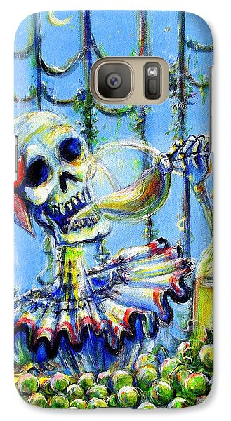 Galaxy Case featuring the painting Mi Chardonnay by Heather Calderon