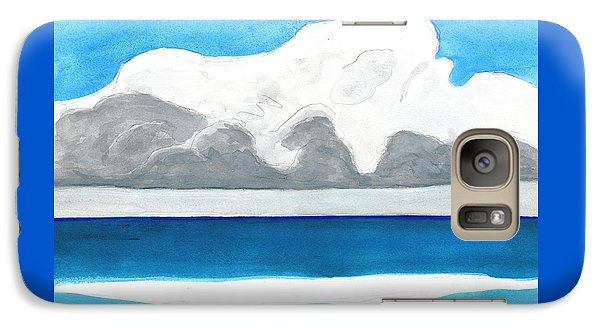 Galaxy Case featuring the painting Miami Beach, Florida by Dick Sauer