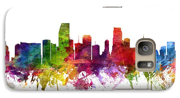 Miami Cityscape 06 Galaxy Case by Aged Pixel