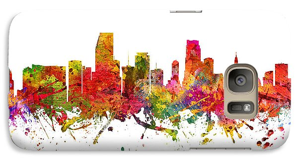 Miami Cityscape 08 Galaxy Case by Aged Pixel