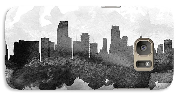 Miami Cityscape 11 Galaxy Case by Aged Pixel