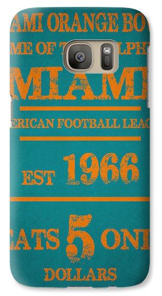 Miami Dolphins Sign Galaxy S7 Case by Joe Hamilton