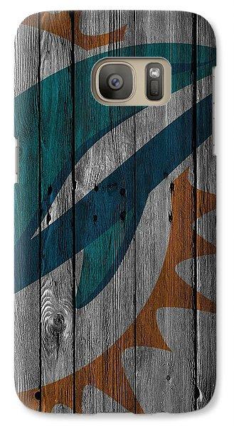Miami Dolphins Wood Fence Galaxy S7 Case by Joe Hamilton