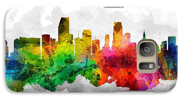 Miami Florida Cityscape 12 Galaxy Case by Aged Pixel