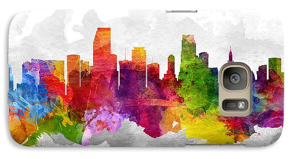 Miami Florida Cityscape 13 Galaxy Case by Aged Pixel