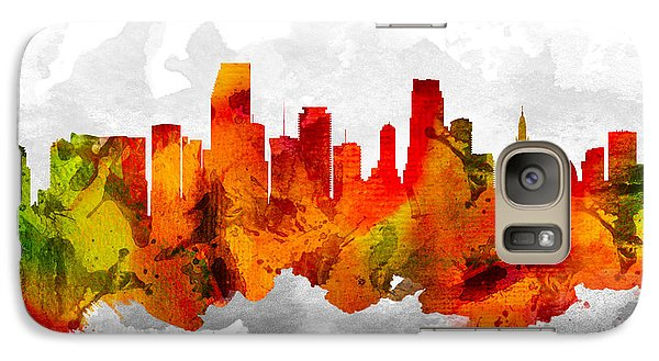 Miami Florida Cityscape 15 Galaxy Case by Aged Pixel