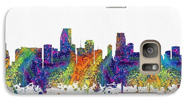 Miami Florida Skyline Color03 Galaxy Case by Aged Pixel