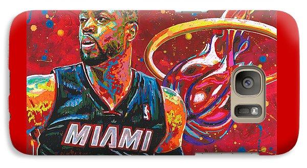 Marquette Galaxy S7 Case - Miami Heat Legend by Maria Arango