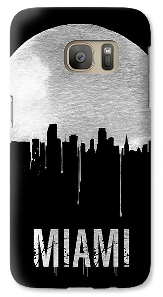 Miami Skyline Black Galaxy S7 Case