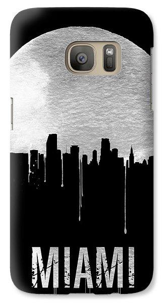 Miami Skyline Black Galaxy Case by Naxart Studio
