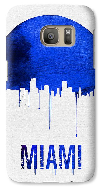 Miami Skyline Blue Galaxy S7 Case