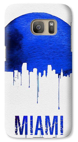 Miami Skyline Blue Galaxy Case by Naxart Studio