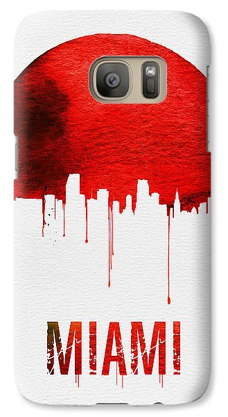 Miami Skyline Red Galaxy S7 Case