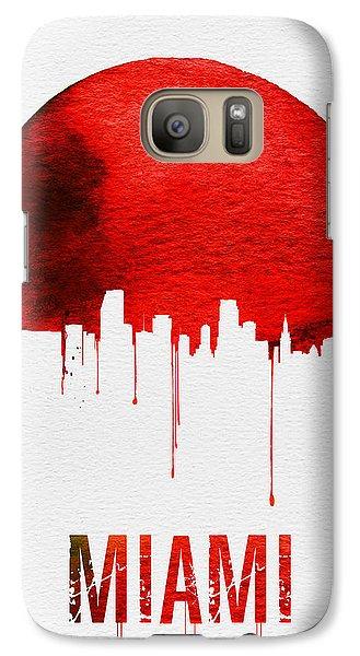 Miami Skyline Red Galaxy S7 Case by Naxart Studio