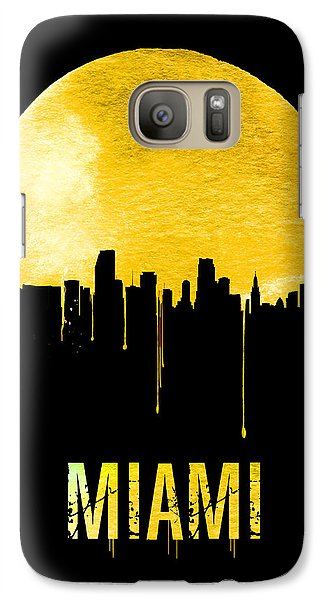 Miami Skyline Yellow Galaxy S7 Case