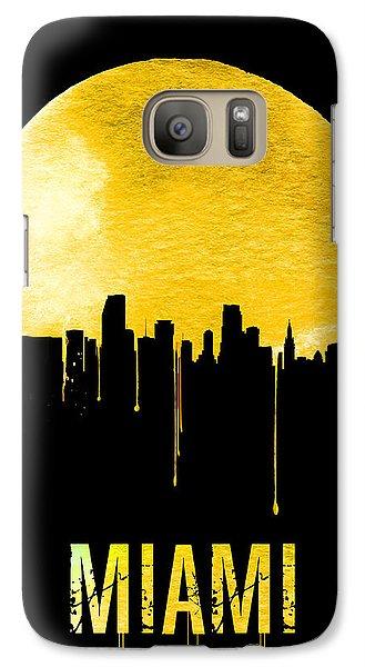 Miami Skyline Yellow Galaxy Case by Naxart Studio