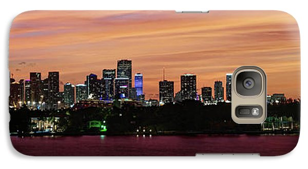 Galaxy Case featuring the photograph Miami Sunset Panorama by Gary Dean Mercer Clark