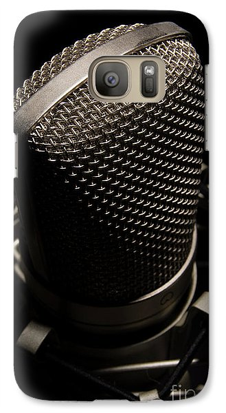 Galaxy Case featuring the photograph Mic by Brian Jones