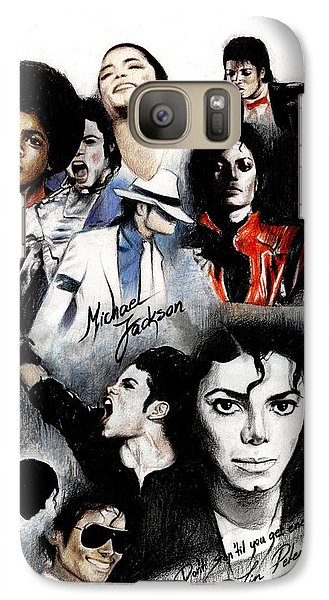 Michael Jackson - King Of Pop Galaxy S7 Case by Lin Petershagen