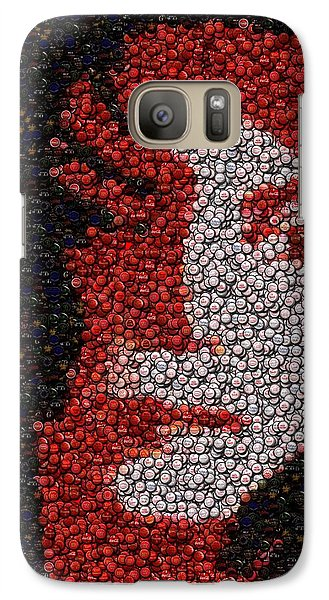 Galaxy Case featuring the mixed media Michael Jackson Bottle Cap Mosaic by Paul Van Scott