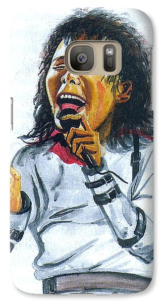 Galaxy Case featuring the painting Michael Jackson by Emmanuel Baliyanga