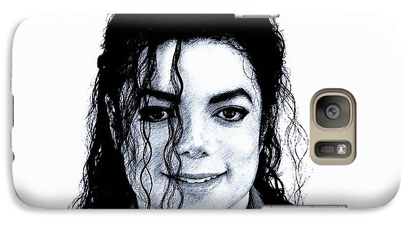 Galaxy Case featuring the drawing Michael Jackson Pencil Drawing  by Movie Poster Prints