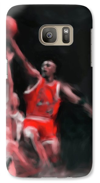 Michael Jordan 548 3 Galaxy Case by Mawra Tahreem