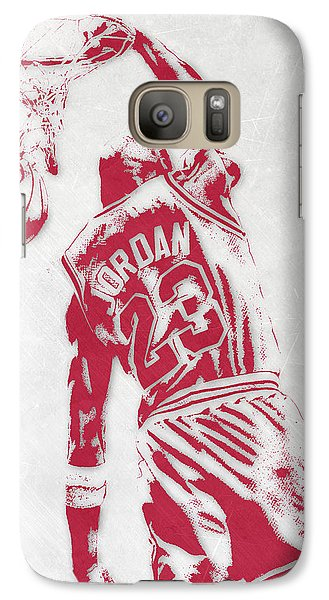 Michael Jordan Chicago Bulls Pixel Art 1 Galaxy S7 Case by Joe Hamilton