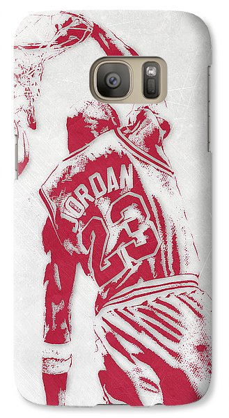 Michael Jordan Chicago Bulls Pixel Art 1 Galaxy Case by Joe Hamilton