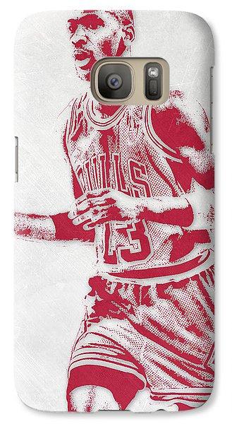 Michael Jordan Chicago Bulls Pixel Art 2 Galaxy S7 Case by Joe Hamilton
