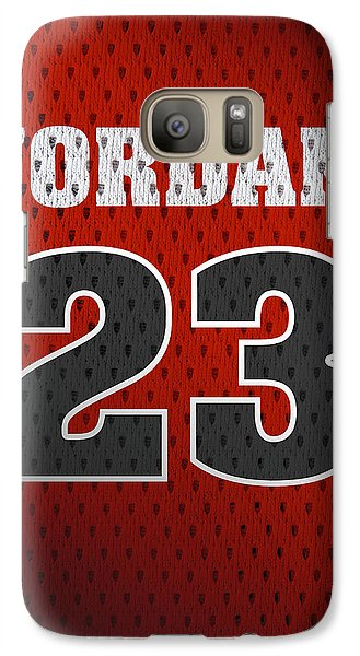 Michael Jordan Chicago Bulls Retro Vintage Jersey Closeup Graphic Design Galaxy S7 Case