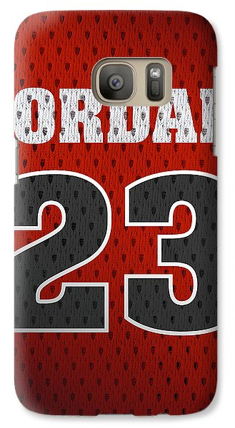 Michael Jordan Chicago Bulls Retro Vintage Jersey Closeup Graphic Design Galaxy Case by Design Turnpike