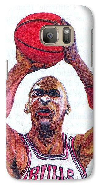 Galaxy Case featuring the painting Michael Jordan by Emmanuel Baliyanga