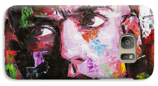 Galaxy Case featuring the painting Michael Stipe by Richard Day