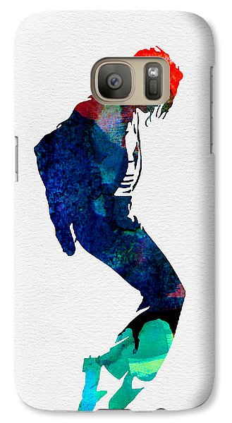 Michael Watercolor Galaxy Case by Naxart Studio